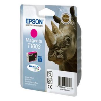 Inkoustová náplň Epson T1003, 11ml růžová