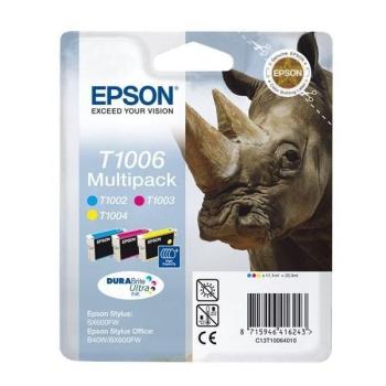 Inkoustová náplň Epson T1006, 3x 11ml CMY