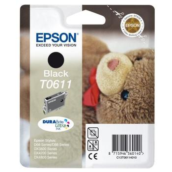 Inkoustová náplň Epson T0611, 8ml černá