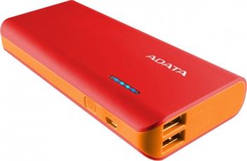 Powerbank ADATA PT100 10000mAh červená/oranžová