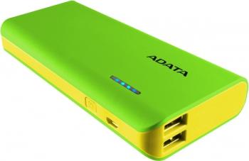 Powerbank ADATA PT100 10000mAh žlutá/zelená