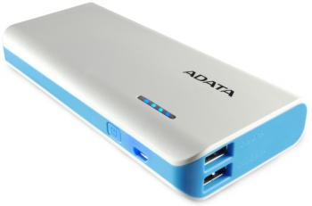 Powerbank ADATA PT100 10000mAh bílá/modrá