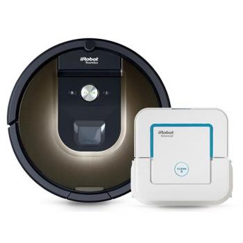 Robotický vysavač iRobot Roomba 980 + Braava jet 240 Zdarma bílý/hnědý