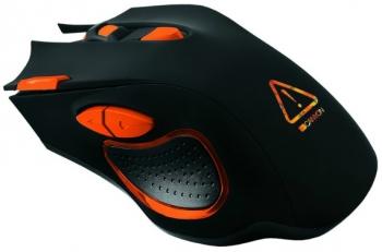 Myš Canyon Corax černá/oranžová (/ optická / 7 tlačítek / 6400dpi)