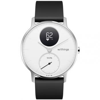 Chytré hodinky Withings Steel HR (36 mm) černá/bílá