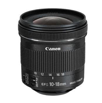 Objektiv Canon EF-S 10-18 mm f/4.5-5.6 IS STM + EW73C + LC kit  černý