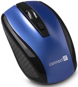 Myš Connect IT CI-1225 modrá (/ optická / 4 tlačítka / 1600dpi)