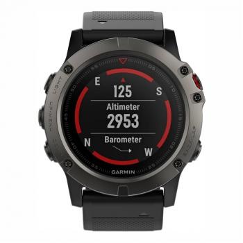GPS hodinky Garmin Fenix 5X Saphire Gray Optic černé