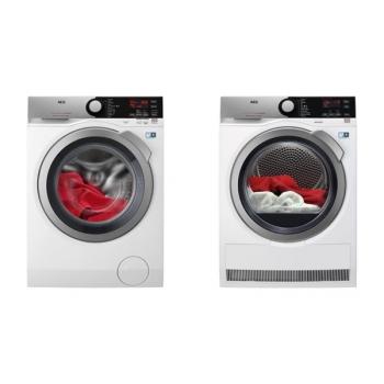 Set (Pračka AEG ProSteam® L7FEE48SC) + (Sušička prádla AEG AbsoluteCare® T8DEE48SC)