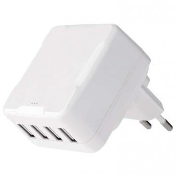 Nabíječka do sítě EMOS Smart 4x USB, 6,8A (34W) max. bílá