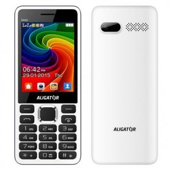 Mobilní telefon Aligator D940 Dual Sim bílý