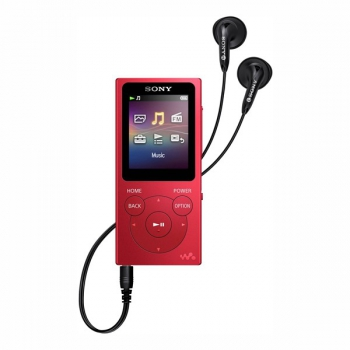 MP3 přehrávač Sony NW-E394R červený