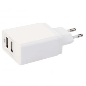 Nabíječka do sítě EMOS Smart, 2x USB, 3,1A (15W) max. bílá