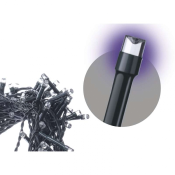 Spojovací řetěz EMOS 100 LED, 10m, fialový