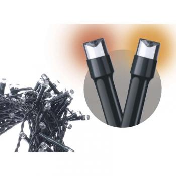 Vánoční osvětlení EMOS 120 LED řetěz pulzující, 12m, IP44, jantarová, časovač