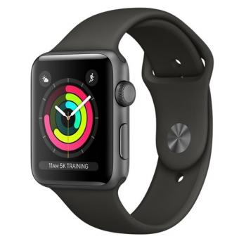 Chytré hodinky Apple Watch Series 3 GPS 38mm pouzdro z vesmírně šedého hliníku - šedý sportovní řemínek