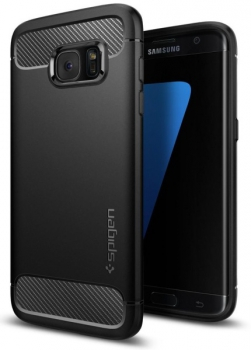 Kryt na mobil Spigen Rugged Armor Samsung Galaxy S7 Edge černý