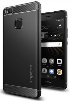 Kryt na mobil Spigen Rugged Armor Huawei P9 Lite (2017) černý