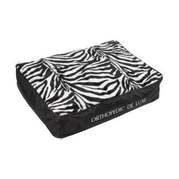 Matrace O'Lala Pets ortopedická De Luxe 90 x 60 cm zebra