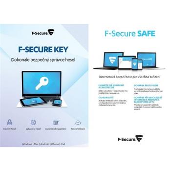 Software F-Secure TOTAL,  3 zařízení / 1 rok + KEY Premium X zařízení / 2 roky