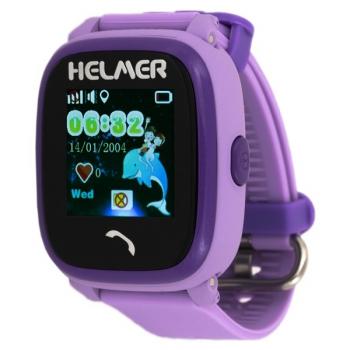 Chytré hodinky Helmer LK 704 dětské s GPS lokátorem  fialové