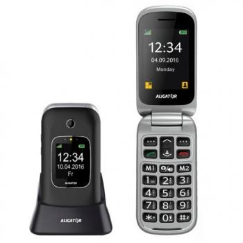 Mobilní telefon Aligator V650 Senior černý/stříbrný