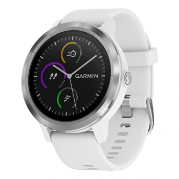 GPS hodinky Garmin vívoActive3 Optic stříbrné/bílé