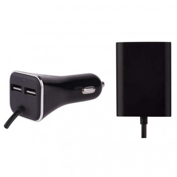 Adaptér do auta EMOS 4x USB, 7,3A (36,5W) max., kabelový černý