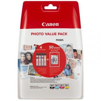 Inkoustová náplň Canon CLI-581 BK/C/M/Y PHOTO VALUE BL