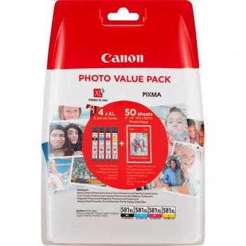 Inkoustová náplň Canon CLI-581XL BK/C/M/Y PHOTO VALUE BL