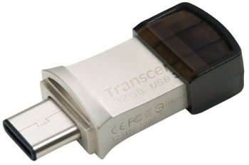 USB Flash Transcend JetFlash 890 32GB stříbrný