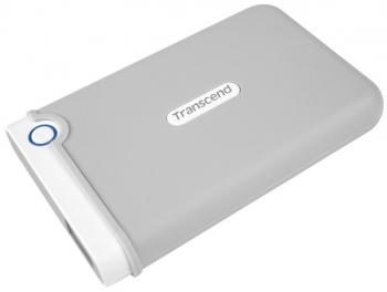 """Externí pevný disk 2,5"""" Transcend StoreJet 100 2TB šedý/bílý"""