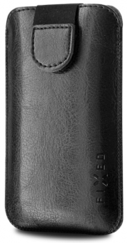 """Pouzdro na mobil flipové FIXED Soft Slim XL (vhodné pro 4,5"""") černé"""