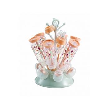 Odkapávač kojeneckých lahví Beaba, šedá/růžová