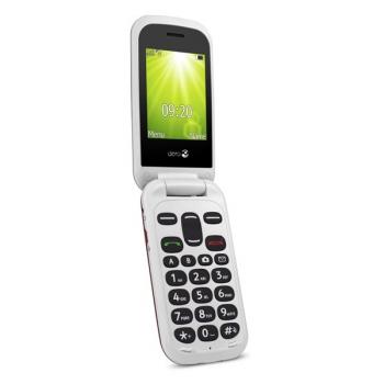 Mobilní telefon Doro 2404 Dual SIM  bílý/červený