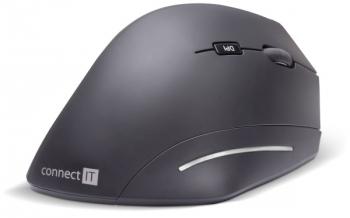 Myš Connect IT Vertical Ergonomic Wireless černá (/ optická / 6 tlačítek / 1600dpi)