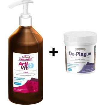Set (Sirup Vitar Artivit 1000 ml) + (Prášek Vitar De-plague 100g)