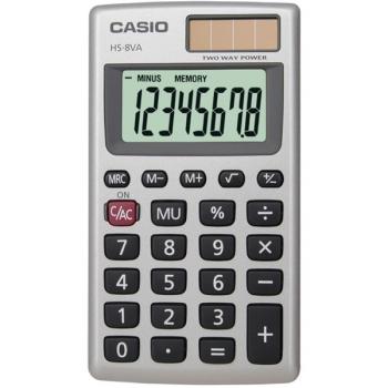 Kalkulačka Casio HS 8 VA šedá
