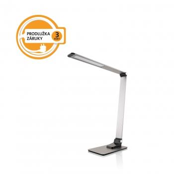 Stolní LED lampička ETA 489290000 stmívatelná, USB port, 9W šedá