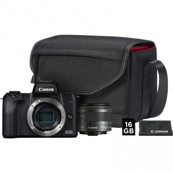 Digitální fotoaparát Canon EOS M50 + M 15-45 IS STM + SB130 + 16 GB karta černý