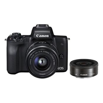 Digitální fotoaparát Canon EOS M50 + EF-M15-45 + EF-M22 černý
