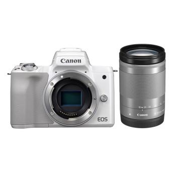 Digitální fotoaparát Canon EOS M50 + EF-M18-150 bílý