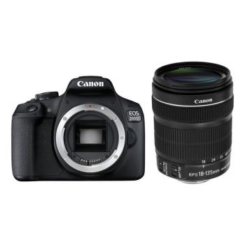 Digitální fotoaparát Canon EOS 2000D + 18-135 IS STM černý