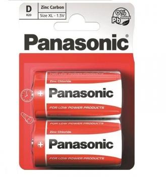 Baterie zinkochloridová Panasonic D, R20, blistr 2ks