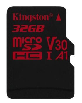 Paměťová karta Kingston Canvas React microSDHC 32GB UHS-I U3 (100R/70W)