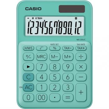 Kalkulačka Casio MS 20 UC GN zelená