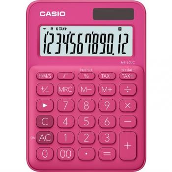 Kalkulačka Casio MS 20 UC RD růžová