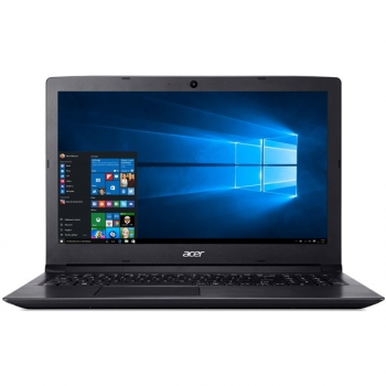 "Notebook Acer Aspire 3 (A315-53-52VB) černý (i5-8250U, 4GB, OPT 16 GB, 1000 + 16 GB, 15.6"", Full HD, bez mechaniky, Intel UHD 620, BT, CAM, W10 Home )"