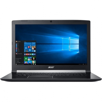 "Notebook Acer Aspire 7 (A717-72G-76Y černý (i7-8750H, 8GB, OPT 16 GB, 2000 + 16 GB, 17.3"", Full HD, bez mechaniky, nVidia GTX 1050, 4GB, BT, FPR, CAM, W10 Home ) + dárek"