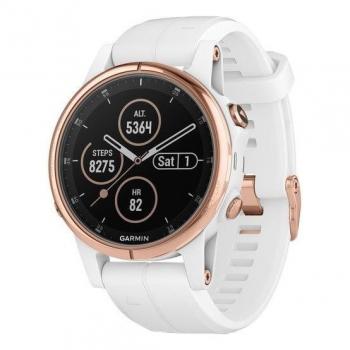 GPS hodinky Garmin Fenix5S Plus bílé/zlaté
